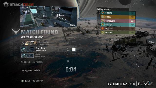 Halo Reach Party System