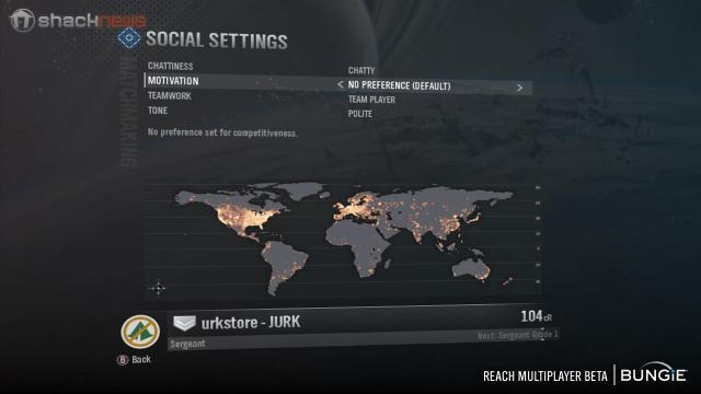 Halo Reach Social Settings